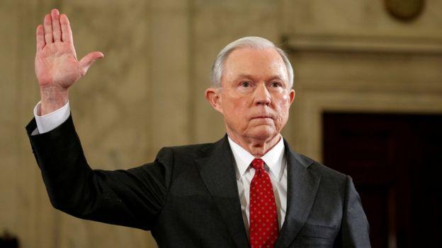 Resultado de imagen para fiscal general, Jeff Sessions de Estados Unidos