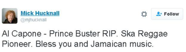 Tweet lee: Al Capone - Prince Buster PIR. Ska Reggae Pioneer. usted y la música jamaicana bendiga.