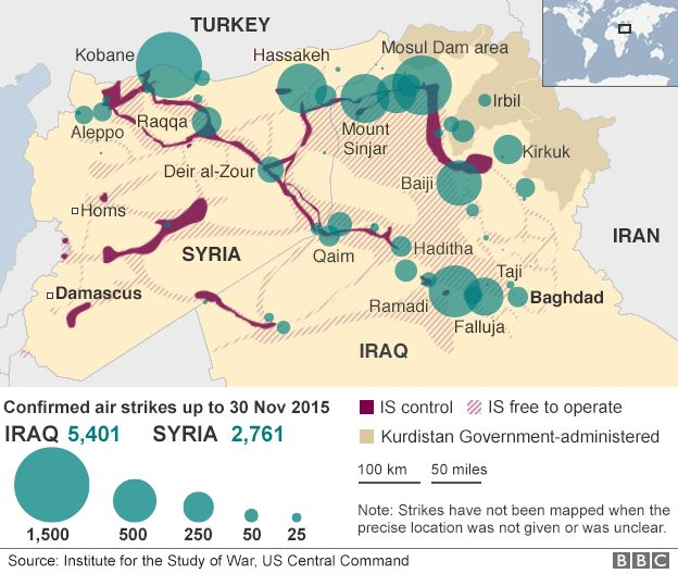 What is islamic state bbc news map showing air strikes in iraq and syria gumiabroncs Images