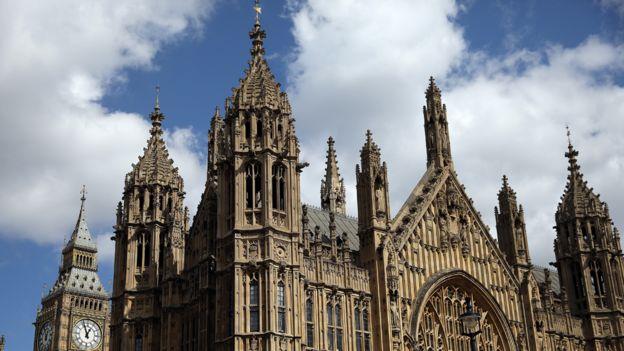 El Parlamento de Westminster.