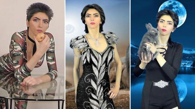 Images of Nasim Aghdam on his website