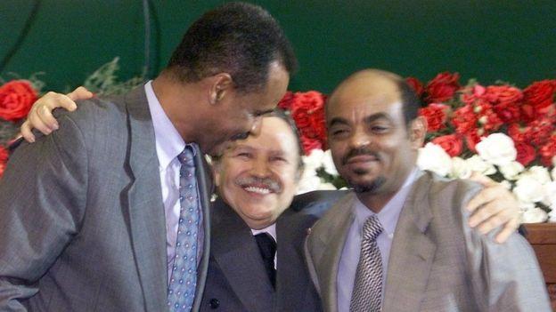 Madaxweynaha Algeria ayaa heshiisiiyay Ra'isulwasaarihii Itoobiya Meles Zanawi iyo madaxweynaha Eritrea Isias Afawarki