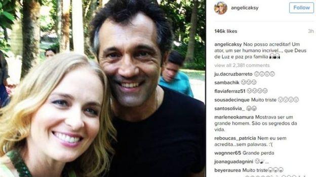 Angelica Huck lamenta la muerte de Montagner