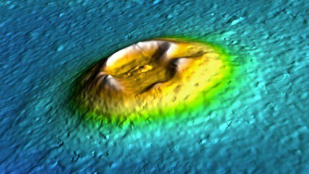 Ilustración de un cono de una isla en Marte. (Foto: NASA/JPL/U. Arizona)