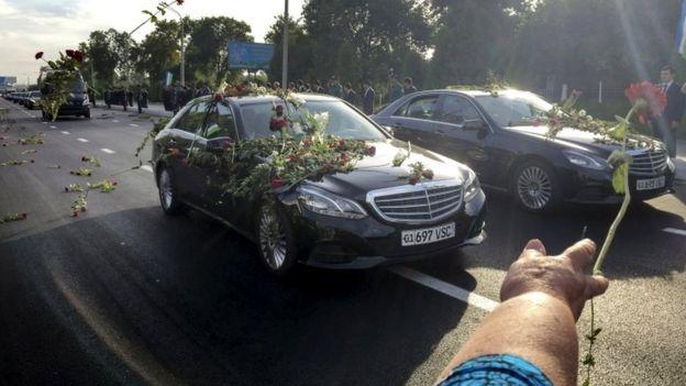 Funeral cortege in Tashkent