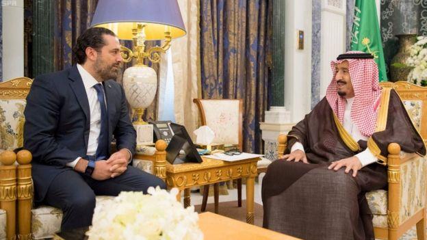 Харири и король Саудовской Аравии Сальман бен Абдель Азиз аль Сауд