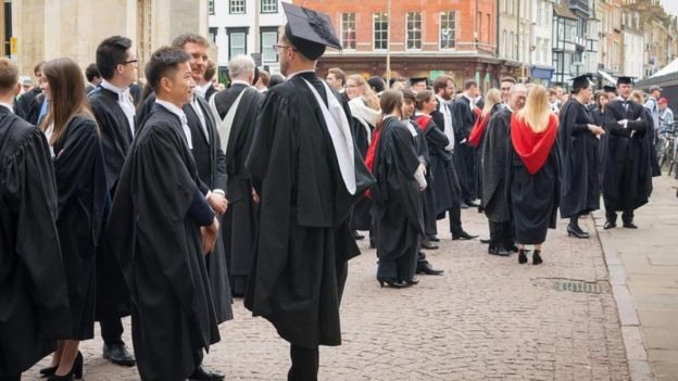 Few individuals from less favored backgrounds are admitted to universities such as Oxbridge.  (Photo: Michael Brooks / Alamy Stock Photo)