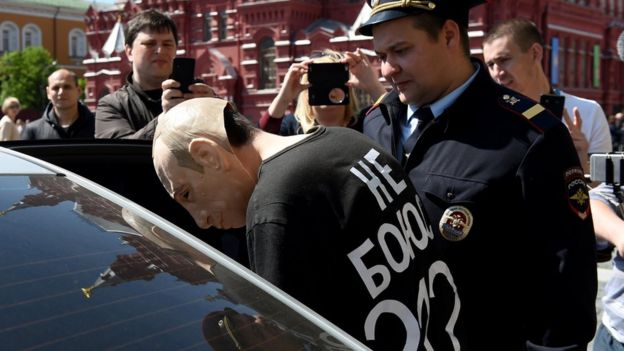 Roslovtsev arrested in Red Square