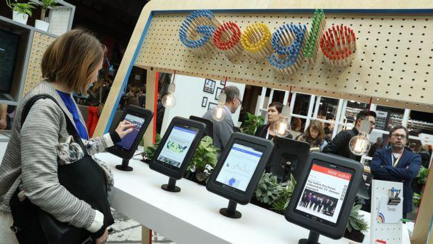 Stand de Google en una feria internacional