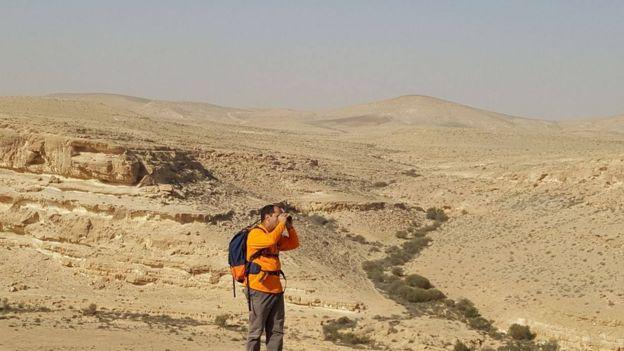 Voluntario en la búsqueda de McAfee. Foto cortesía: Har Hanegev Search & Rescue Team