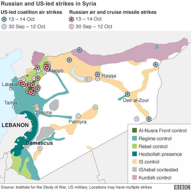 Syria Conflict Army Launches New Aleppo Offensive BBC News - Map of area that us forces control in syria
