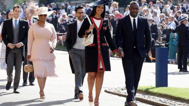 Idris Elba iyo xaaskiisa Saabiriin Dhoore oo ah gabadh Soomaali ah iyo waliba Oprah Winfrey
