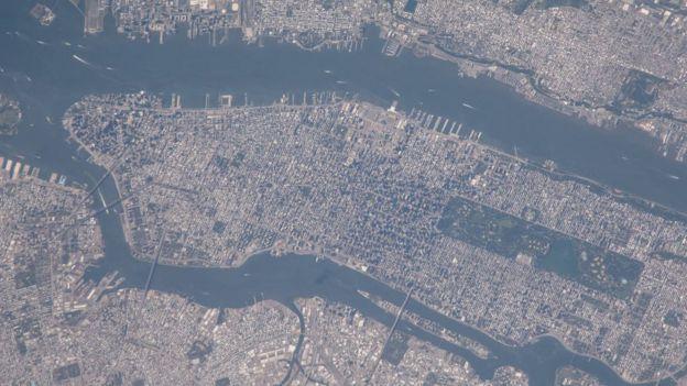 Foto tomada desde la Estación Espacial Internacional