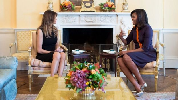 Melania Trump and Michelle Obama