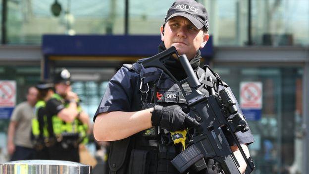 Policía en Manchester