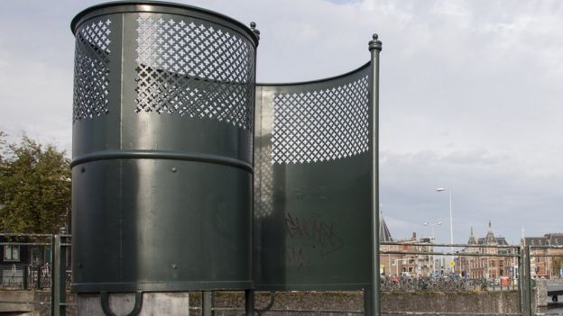 Un antiguo urinario para hombres en Ámsterdam.