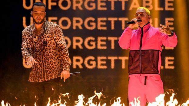 French Montana y J. Balvin en los Grammy Latinos, Las Vegas, Nevada