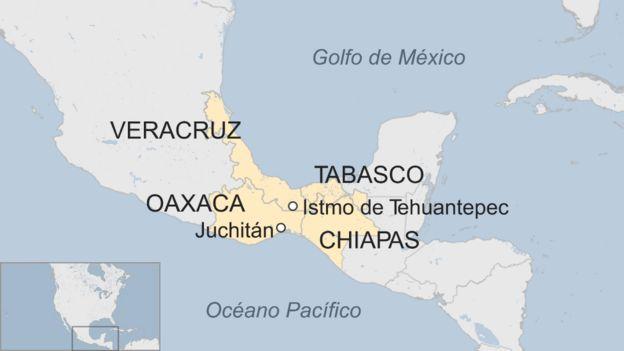 Ubicación de Tehuantepec