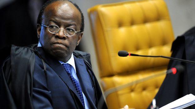 Joaquim Barbosa no STF em 02/08/2012