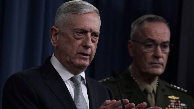 El secretario de Defensa Jim Mattis