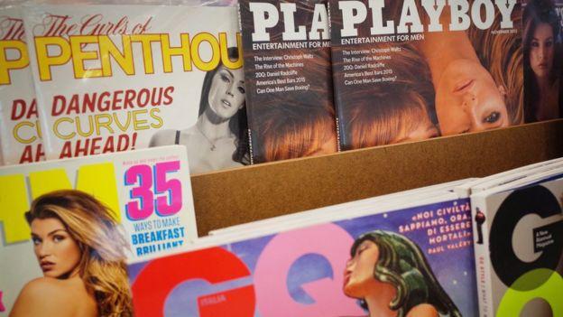 Ejemplares de la revista Playboy y otras publicaciones