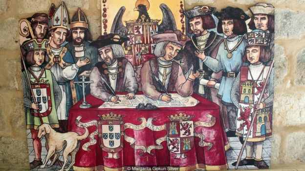 Negotiating the Treaty of Tordesillas was a year-long process with a high potential of war