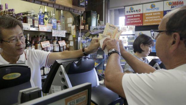 Venta de billetes de lotería en California
