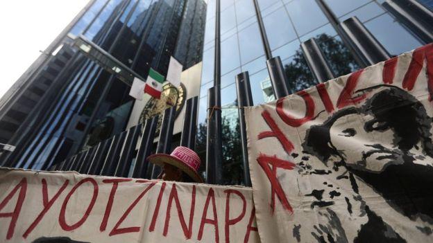 Protesta por el caso Ayotzinapa