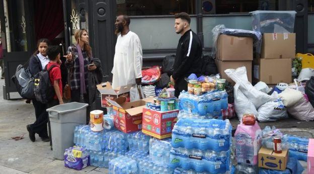Гуманитарная помощь для погорельцев