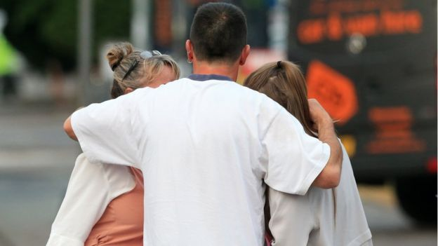 Concertgoers the morning after the attack