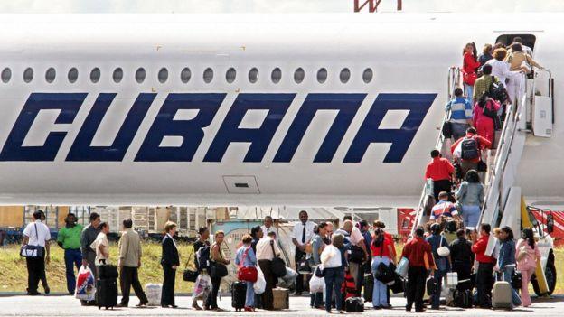 Un avión de Cubana de Aviación