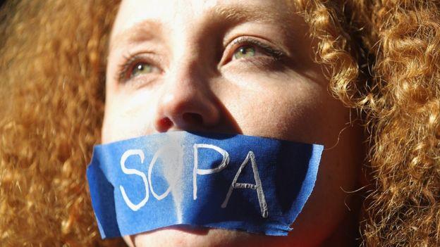 Sopa protestor