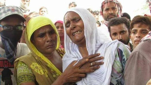 Irfan Masih's mother Arshad Bibi