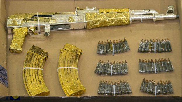 Weapons kidnapped to narcos.