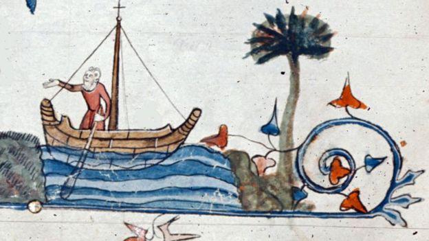 En bote, en río
