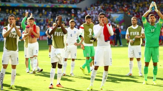 England failed to progress from the group stages of the World Cup in 2014
