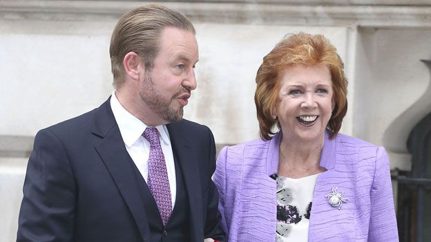 Cilla Black with son Robert in 2014