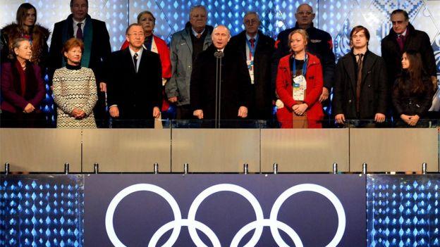 Mr Putin declares the Sochi games open