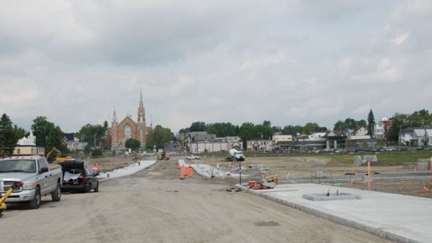 Lac-Megantic is in the midst of reconstruction