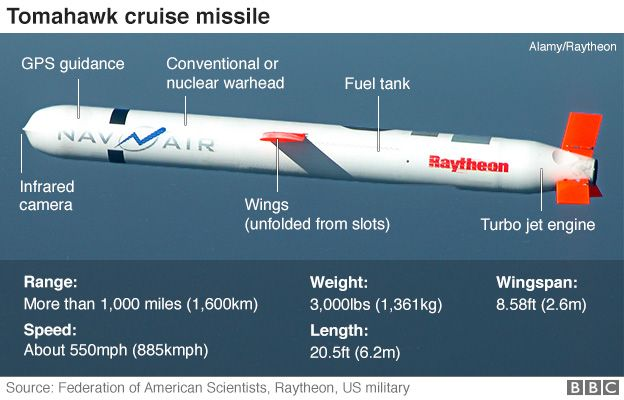 Graphic of Tomahawk cruise missile