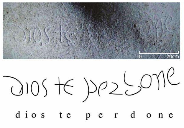 Inscripción en la cueva 18