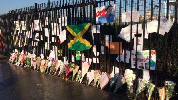 Flower tributes to Quamari Barnes