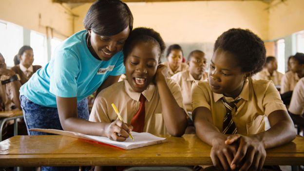Школа в Замбии
