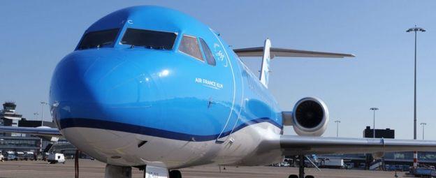 A KLM Fokker 70
