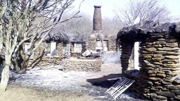Burned Mukutan lodge