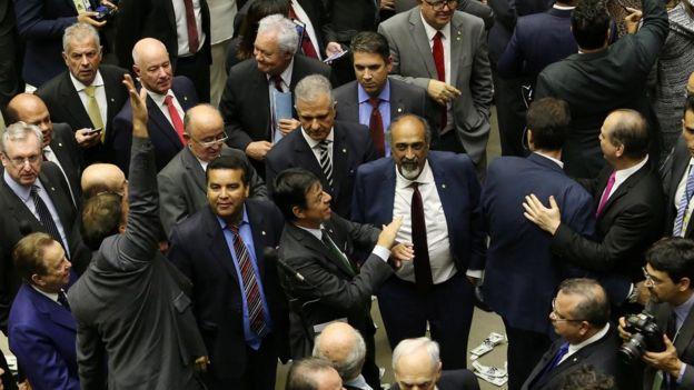 Deputados na Câmara, em Brasília