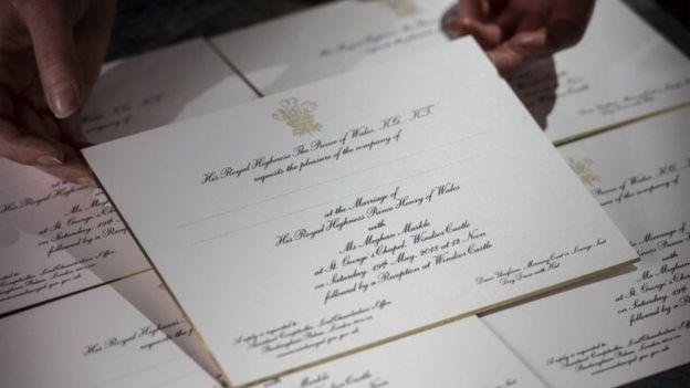 royal wedding invite