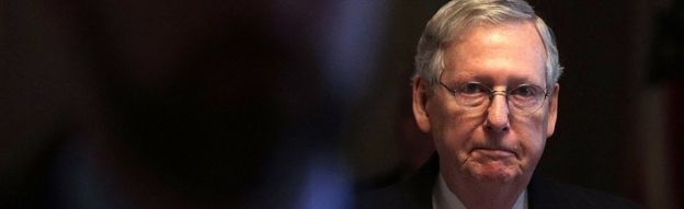 Senato çoğunluk lideri Mitch McConnell, Capitol'da 6 Nisan 2017