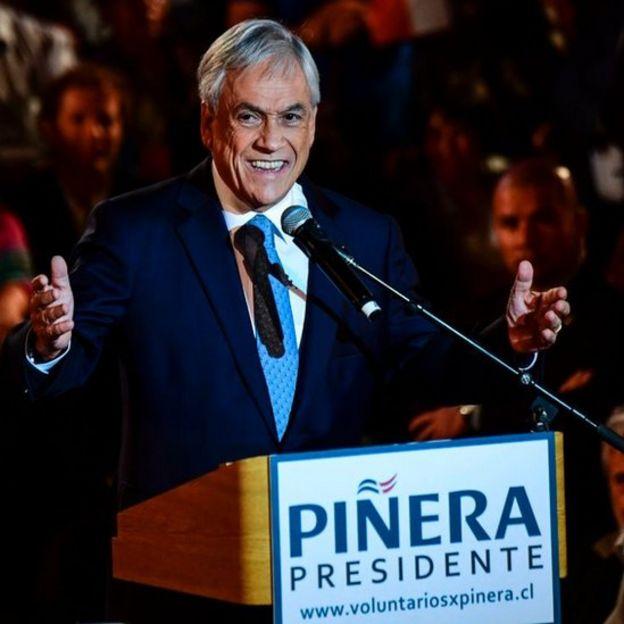 Sebastián Piñera en un acto de campaña 2017 (crédito: Getty Images)