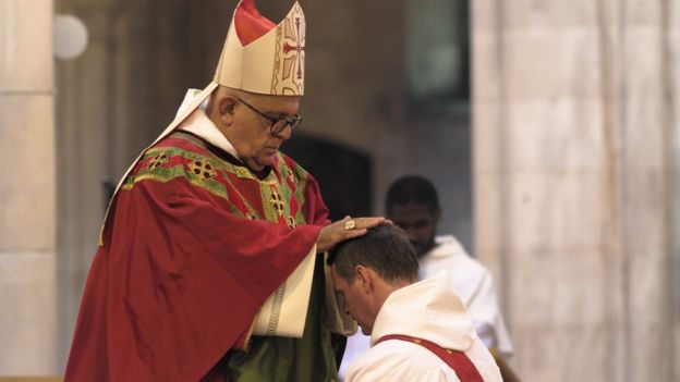 Philip Mulryne y el arzobispo Joseph Augustine Di Noia